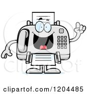 Cartoon Of A Smart Fax Machine Royalty Free Vector Clipart