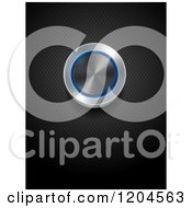 Clipart Of A 3d Brushed Metal Dial Knob With A Blue Neon Ring On A Black Texture Royalty Free Vector Illustration