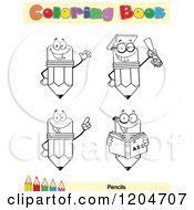 Cartoon Of A Coloring Book Page With Pencil Outlines Text And A Colored Pencil Border 5 Royalty Free Vector Clipart