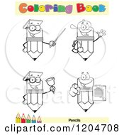 Cartoon Of A Coloring Book Page With Pencil Outlines Text And A Colored Pencil Border 4 Royalty Free Vector Clipart