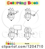 Cartoon Of A Coloring Book Page With Pencil Outlines Text And A Colored Pencil Border 3 Royalty Free Vector Clipart
