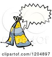 Cartoon Of Teepee Speaking Royalty Free Vector Illustration