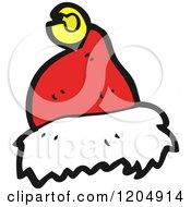 Cartoon Of A Santa Cap Royalty Free Vector Illustration