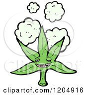Cartoon Of A Smiling Pot Leaf Royalty Free Vector Illustration by lineartestpilot