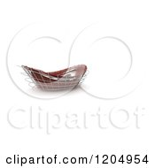 Clipart Of A 3d Abstract Red Architectural Stadium Structure On White Royalty Free CGI Illustration