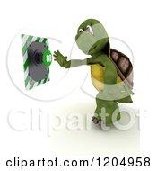 3d Tortoise Pushing A Go Button