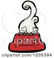 Cartoon Of A Bowl Of Dog Food Royalty Free Vector Illustration