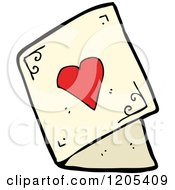 Cartoon Of A Valentines Day Greeting Card Royalty Free Vector Illustration