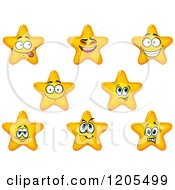 Clipart Of Yellow Stars Royalty Free Vector Illustration