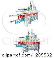 Clipart Of Management Word Collages Royalty Free Vector Illustration by Vector Tradition SM