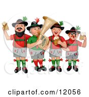 Clay Sculpture Clipart German Oktoberfest Band With Beer Royalty Free 3d Illustration by Amy Vangsgard #COLLC12056-0022