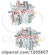 Clipart Of Business Word Collages Royalty Free Vector Illustration by Vector Tradition SM