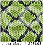 Clipart Of A Seamless Green And Black Snake Skin Pattern 2 Royalty Free Vector Illustration