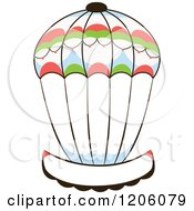 Clipart Of A Hot Air Balloon And Banner Royalty Free Vector Illustration by Cherie Reve