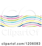 Clipart Of A Seamless Colorful Wavy Dot Pattern Royalty Free Vector Illustration
