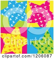 Clipart Of A Colorful Star Background Royalty Free Vector Illustration by Cherie Reve