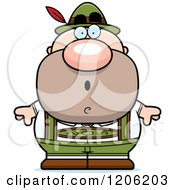 Cartoon Of A Surprised Short Oktoberfest German Man Royalty Free Vector Clipart