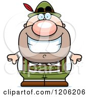 Cartoon Of A Happy Short Oktoberfest German Man Royalty Free Vector Clipart by Cory Thoman