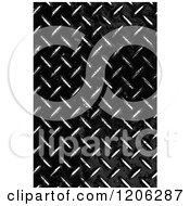 Clipart Of A 3d Grungy Worn Black Diamond Plate Texture Royalty Free CGI Illustration