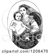Vintage Black And White Sistine Madonna