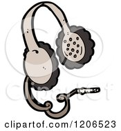 Cartoon Of A Pair Of Headphones Royalty Free Vector Illustration