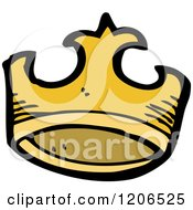 Cartoon Of A Gold Crown Royalty Free Vector Illustration