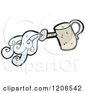 Cartoon Of A Watering Can Royalty Free Vector Illustration