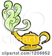 Cartoon Of A Magic Lamp Royalty Free Vector Illustration by lineartestpilot