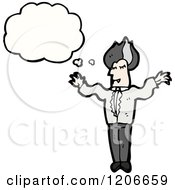 Cartoon Of A Vampire Thinking Royalty Free Vector Illustration