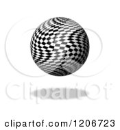 Clipart Of A 3d Floating Chessboard Checkered Globe Royalty Free CGI Illustration
