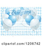 Blue Oktoberfest Balloons And A Banner Over Diamonds