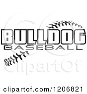 Clipart Of A Black And White Baseball And BULLDOG Team Text Royalty Free Vector Illustration by Johnny Sajem