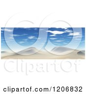 Clipart Of A 3d Desert Landscape With Sand Dunes And Sunny Skies Royalty Free CGI Illustration by KJ Pargeter