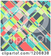 Clipart Of A Colorful Geometric Pattern Royalty Free Vector Illustration