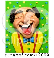 Clay Sculpture Clipart Balding Man Laughing Royalty Free 3d Illustration by Amy Vangsgard #COLLC12069-0022
