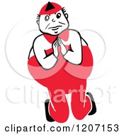 Clipart Of A Red Tweedle Dum Royalty Free Vector Illustration