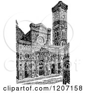 Vintage Black And White Florence Cathedral