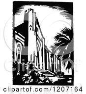 Vintage Black And White Architectural Scene