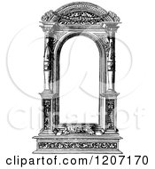 Vintage Black And White Architectural Frame