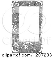 Clipart Of A Vintage Black And White Frame Royalty Free Vector Illustration