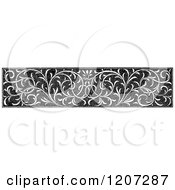Clipart Of A Vintage Black And White Floral Rule Border Royalty Free Vector Illustration