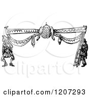 Clipart Of A Vintage Black And White Silly Border Royalty Free Vector Illustration