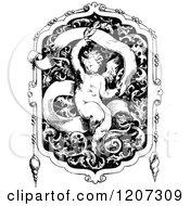 Vintage Black And White Medieval Design