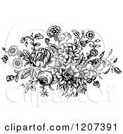 Vintage Black And White Floral Design