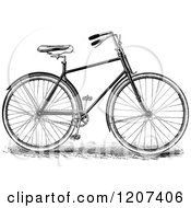 Clipart Of A Vintage Black And White Bicycle Royalty Free Vector Illustration by Prawny Vintage