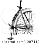 Clipart Of A Vintage Black And White Bicycle Detail Royalty Free Vector Illustration by Prawny Vintage