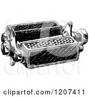 Clipart Of A Vintage Black And White Bicycle Pedal Royalty Free Vector Illustration by Prawny Vintage