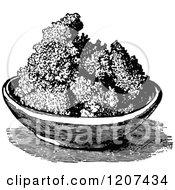 Vintage Black And White Bowl Of Ranular Butter