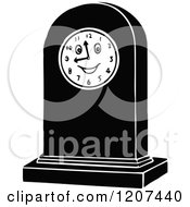 Clipart Of A Vintage Black And White Clock With A Face Royalty Free Vector Illustration by Prawny Vintage