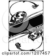 Clipart Of A Vintage Black And White Floral Artistic Banner Royalty Free Vector Illustration